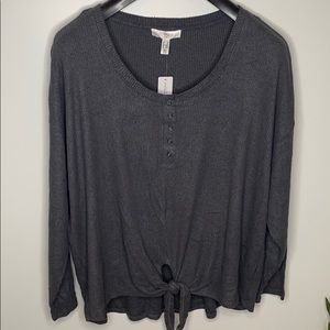 AdditionElle Long Sleeve ribbed Henley top Size 2X